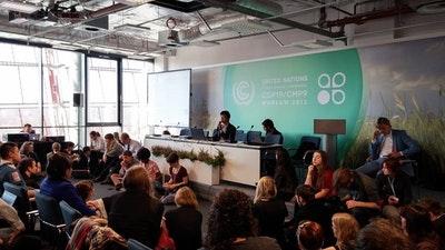 聯合國氣候變遷大會-COP19華沙,青年晨間大會